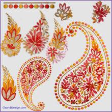 Machine embroidery stand alone designs