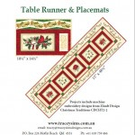 Christmas Traditions Table runner pattern front cover pic
