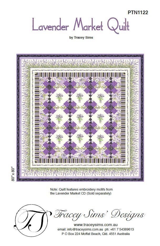 Lavender Market Quilt Pattern Traceysimsdesigns