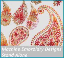 Machine embroidery stand alone designs